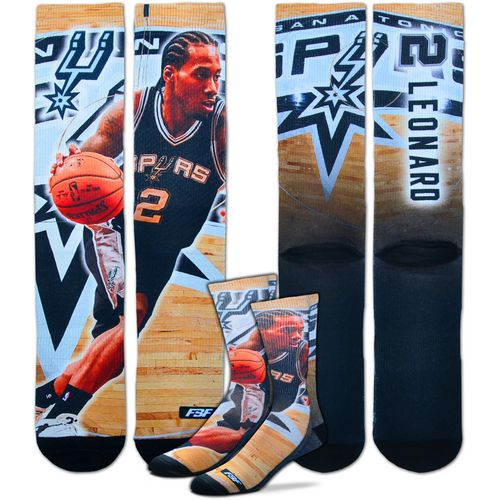 For Bare Feet Men's San Antonio Spurs Kawhi Leonard Center Court Player Crew Socks