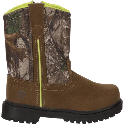Display product reviews for Magellan Outdoors Toddler Boys' Scout Wellington Hunting Boots