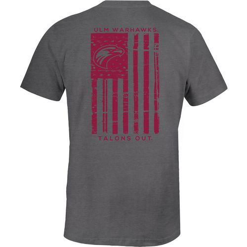Image One Men's University of Louisiana at Monroe Distressed Flag T-shirt