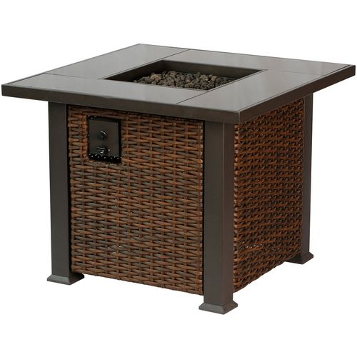 Bali Outdoors 36 in Tile Gas Fire Pit Table
