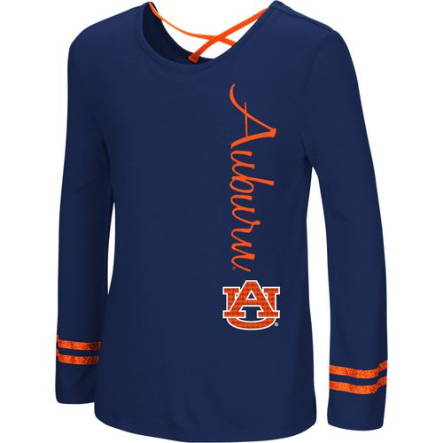 Colosseum Athletics Girls' Auburn University Marks the Spot Strappy Back Long Sleeve T-shirt