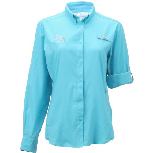 Columbia Sportswear Women's Sam Houston State University Long Sleeve Tamiami PFG Shirt