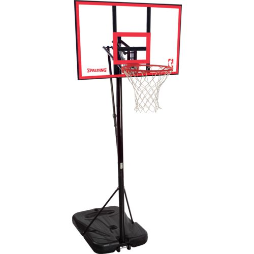 spalding 44 in portable polycarbonate basketball hoop academy