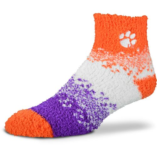 For Bare Feet Women's Clemson University Marquee Sleep Soft Quarter Socks