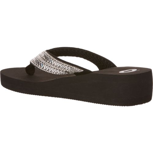 O'Rageous Women's Bling Wedge Flip-Flops - view number 3
