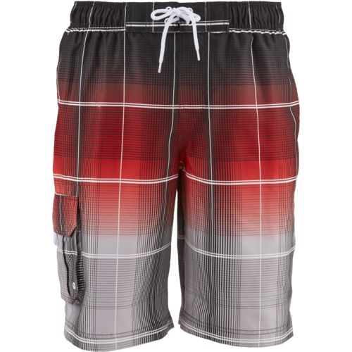 O'Rageous Men's Gradient Plaid Boardshorts
