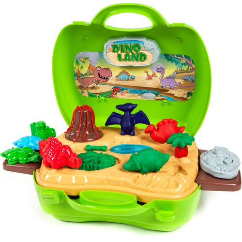 World Tech Toys Activity Dough Dinosaur 26-Piece Suitcase Playset