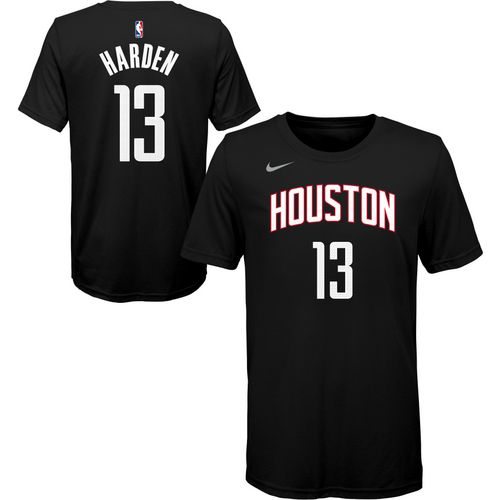 Nike Boys' Houston Rockets James Harden Statement Name and Number T-shirt -  view ...