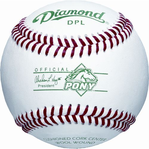 Diamond DPL Tournament Grade Pony League Baseballs 12-Pack