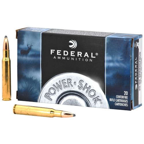 Federal Premium Ammunition Power-Shok .30-06 Springfield 150-Grain Centerfire Rifle Ammunition