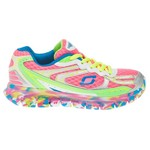 SKECHERS Girls' Sport Synergy - Confetti Color Athletic Lifestyle Shoes