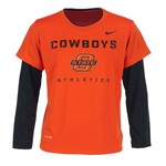 Nike Boys' Oklahoma State University 2-fer Dri-FIT T-shirt