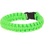 Bison Designs Side-Release Medium Green Coreless Paracord Bracelet