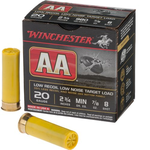 Winchester AA® Low Recoil 20 Gauge 8 Shotshells