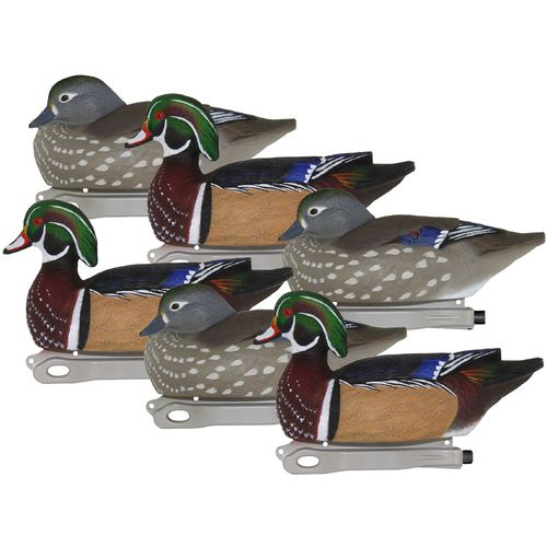 Hard Core 3-D Wood Duck Decoys 6-Pack