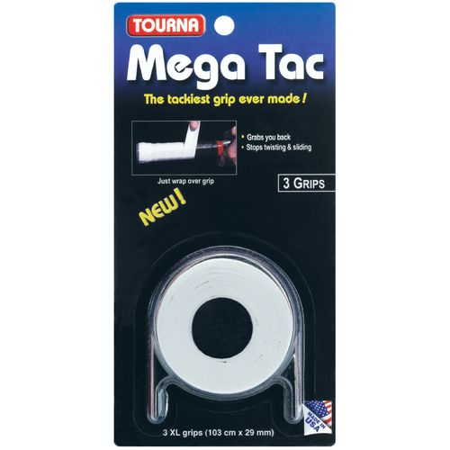 Display product reviews for Tourna MEGA TAC Tennis Racquet Grips 3-Pack