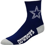 For Bare Feet Men's Dallas Cowboys Quarter Socks