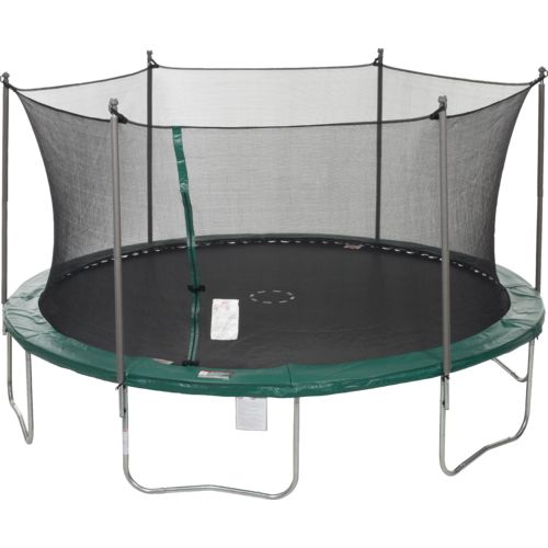 Jump Zone™ 15' Round Trampoline with Enclosure and