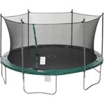 Jump Zone™ 15' Round Trampoline with Enclosure and Spinning Flashlight Zone