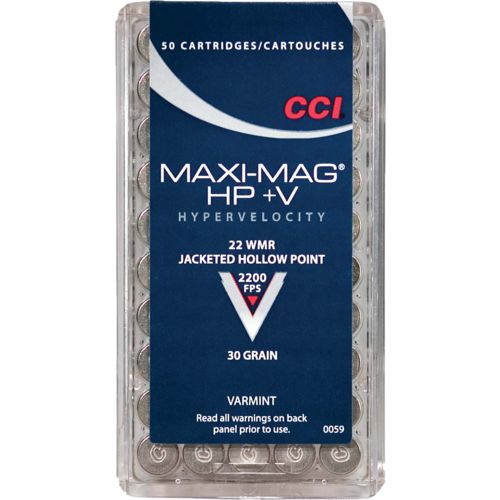CCI® Maxi-Mag® .22 WMR Varmint 30-Grain Hollow Point Rimfire Ammunition