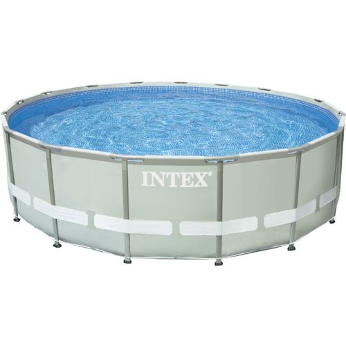 intex 16 ft x 48 in round ultra frame pool set with 1 500 gal filter pump academy. Black Bedroom Furniture Sets. Home Design Ideas