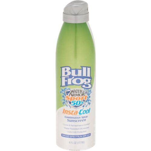 Display product reviews for Bullfrog Water Armor® Sport Insta-Cool SPF 50 Continuous Spray Sunscreen