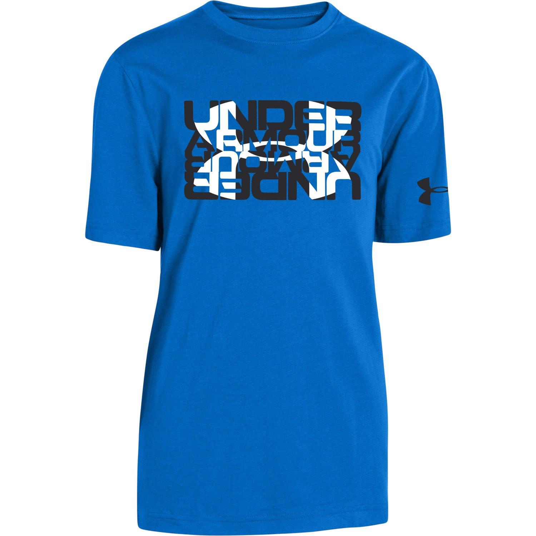 Under Armour Boys 39 Glow Script Logo T Shirt Academy