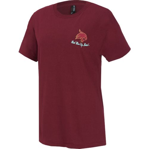 New World Graphics Women's Texas State University Bright Bow T-shirt