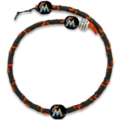 GameWear Miami Marlins Team Color Frozen Rope Baseball Necklace