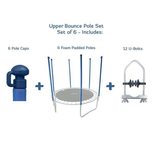 Upper Bounce® Replacement Trampoline Enclosure Poles and Hardware Set - view number 2