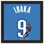 "Photo File Oklahoma City Thunder Serge Ibaka #9 UniFrame 20"" x 20"" Framed Photo"