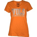 Three Squared Juniors' University of Tennessee Missy Bling Party T-shirt
