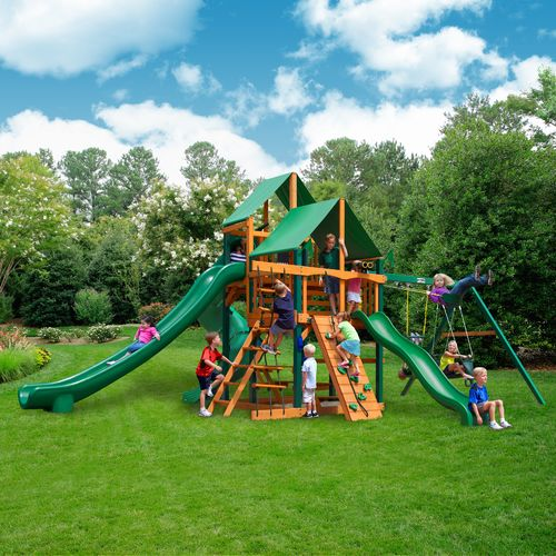 Gorilla Playsets™ Great Skye II Swing Set with Timber Shield™ and Deluxe Vinyl Canopy - view number 2