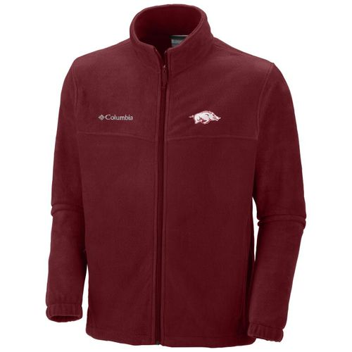 Columbia Sportswear Men's University of Arkansas Collegiate Flanker™ II Full Zip Fleece Jac