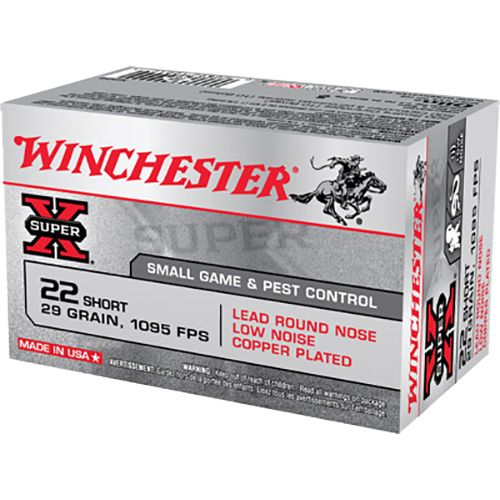 Winchester Super-X .22 Short 29-Grain Lead Round Nose Rimfire Ammunition