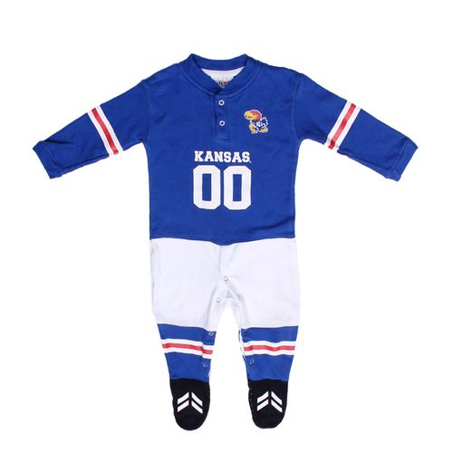 Glitter Gear Toddlers' University of Kansas Long Sleeve Footy Suit