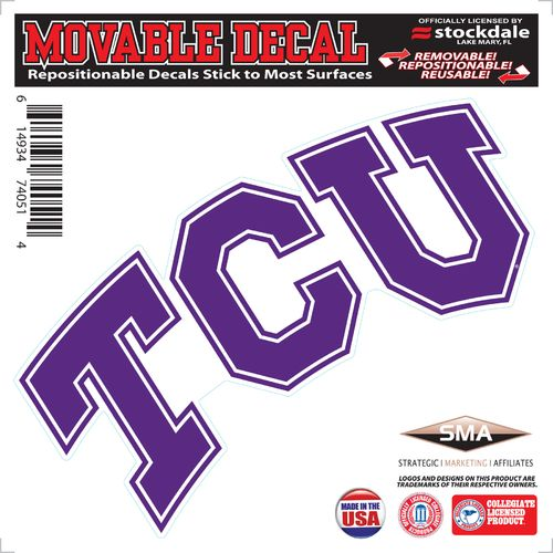 "Stockdale Texas Christian University 6"" x 6"" Decal"