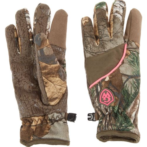 Game Winner Women's Realtree Xtra Camo Mid-Weight Fleece Shooting Gloves