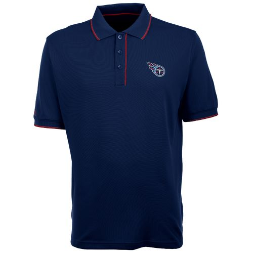Antigua Men's Tennessee Titans Elite Short Sleeve Polo