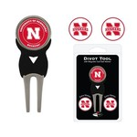 Team Golf University of Nebraska Divot Tool and Ball Marker Set - view number 1