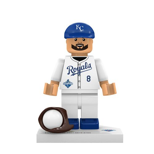 OYO Sports Kansas City Royals Mike Moustakas World Series Champions Minifigure