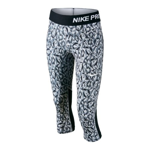 Nike Girls' Pro Cool Allover Print 1 Capri