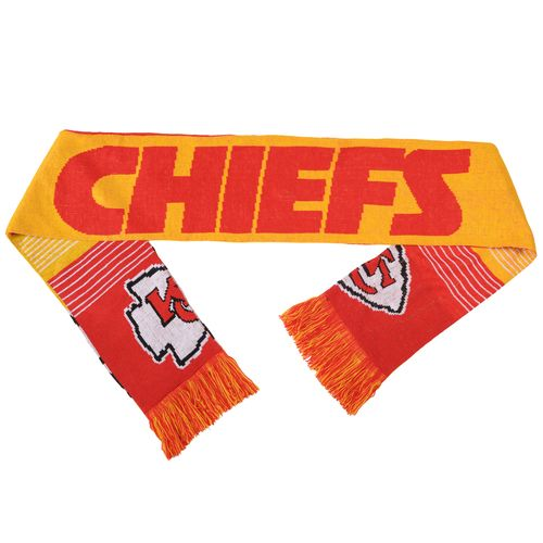 Team Beans Adults' Kansas City Chiefs Reversible Split Logo Scarf
