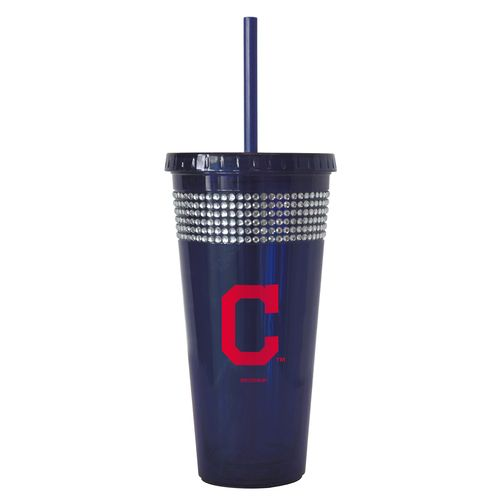 Boelter Brands Cleveland Indians 22 oz. Bling Straw Tumblers 2-Pack