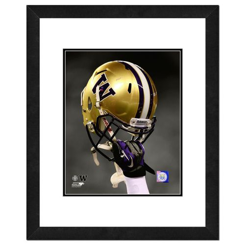 Photo File University of Washington Helmet 16' x 20' Matted and Framed Photo