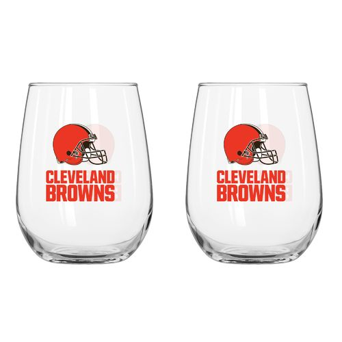 Boelter Brands Cleveland Browns 16 oz. Curved Beverage Glasses 2-Pack for cheap