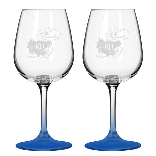 Boelter Brands University of Kansas 12 oz. Wine Glasses 2-Pack - view number 1