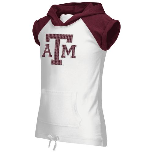 Colosseum Athletics Girls' Texas A&M University Jewel Short Sleeve Hoodie
