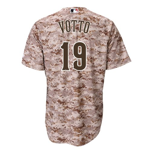 Majestic Men's Cincinnati Reds Joey Votto #19 Cool Base® Replica Jersey