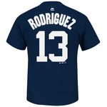 Majestic Men's New York Yankees Alex Rodriguez #13 T-shirt